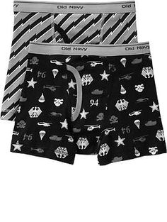Boys Patterned Boxer-Brief 2-Packs | Old Navy