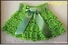Minifalda para niña a crochet