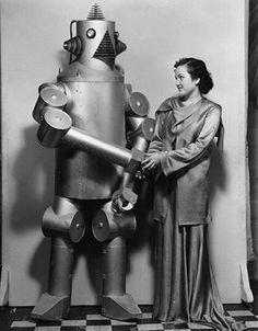 A woman & her robot