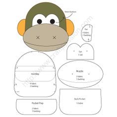 Monkey Key Pouch - Ba Nana | Craft Passion - Free Sewing Pattern – Page 2 of 2