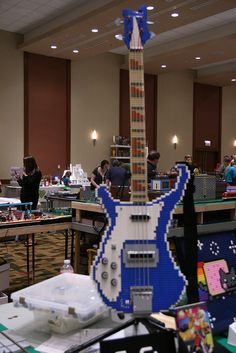 A lego Rickenbacker, via Flickr.