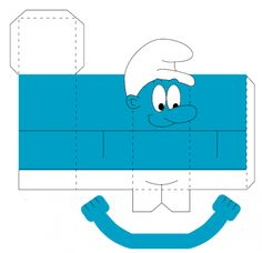Make a smurf Paper Toys, Paper Crafts, Printable Box, Smurfette, Diy Calendar, Teaching Art, Craft Tutorials, Party Themes, Animation
