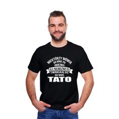 T-shirt z nadrukiem męski Tato