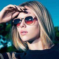 Scarlett Johansson et sa coupe courte pour Mango