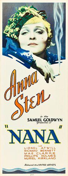 Nana (1934) Nana RéalisationDorothy Arzner George Fitzmaurice