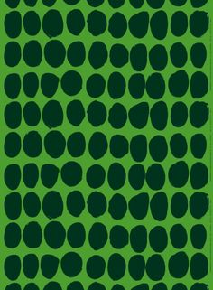 Marimekko Koppelo Green Fabric Maija Isola designed the Koppelo print back in but the abstract art remains as timeless and eye-catching today. 60s Patterns, Textile Patterns, Print Patterns, Textiles, Textile Prints, Textile Design, Another Green World, Best Web Design, Green Fabric