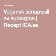 Vegansk senapssill av aubergine   Recept ICA.se
