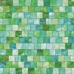 Wall Decal of Green Mosaic Tiles $55