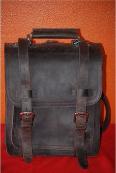 Vagabond Traveler 16 Professional Backpack Leather Briefcase Laptop PC Case N R | eBay