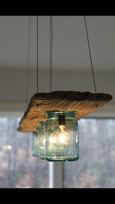 15 Breathtaking DIY Wooden Lamp Projects to Enhance Your Decor With homesthetics. 15 Breathtaking DIY Wooden Lamp Projects to Enhance Your Decor With homesthetics diy wood projects Mason Jar Lighting, Diy Mason Jar Lights, Mason Jar Light Fixture, Wood Lamps, Glass Pendant Light, Pendant Lights, Pendant Lamp, Mason Jar Lamp, Pots Mason