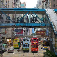 Tramways de Wanchai - Hong Kong