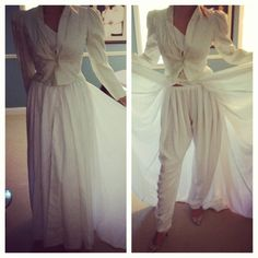 1984 vogue inspired wedding gown and pant