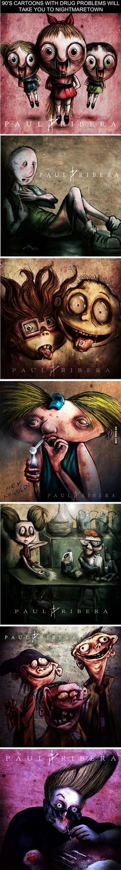 Cartoons With Drug Problems Will Take You to Nightmaretown - Just DWL Cartoon Pics, Cartoon Art, Childhood Ruined, Twisted Disney, 90s Cartoons, Creepy Art, Geek Culture, Best Funny Pictures, Weird Pictures