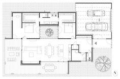 archiweb.cz - Rodinný dom CLT 10 Porches, Floor Plans, Facades, Houses, Front Porches, Porch, Verandas, Porticos, Floor Plan Drawing