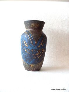 Vintage West German Carstens-Tönnieshof vase 663-18.Mid Century Modern vase. by Cherryforest on Etsy