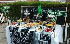 Mesa New York. Eventos Limited Edition. Organización y Diseño de Fiestas Temáticas, Eventos y Bodas, Alicante