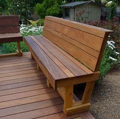 40 Generous DIY Outdoor Bench Design Ideas for Backyard & Frontyard – Page 20 of 35 - Modern Deck Bench Seating, Patio Bench, Outdoor Seating, Outdoor Decor, Entry Bench, Wood Patio, Diy Bench, Bench Cushions, Outdoor Garden Bench