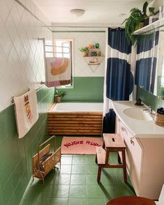 Interior - Modern and colourful bathroom style inspiration home and interior decor – Interior Bad Inspiration, Bathroom Inspiration, Bathroom Colors, Small Bathroom, Bathroom Ideas, Bathroom Inspo, Guys Bathroom, Bathroom Green, Wooden Bathroom