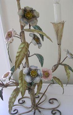 floral tole lamp