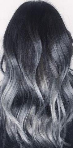 Charcoal Gray Silver Balayage   Hair Color   Pinterest   Balayage ...