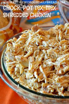 Crock-Pot Tex-Mex Shredded Chicken recipe - #EverdayConfetti crock pot, crockpot texmex, texmex shred, shredded chicken crockpot, slow cooker chicken, shred chicken, crockpot chicken texmex, shredded chicken recipes, meal