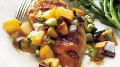 Grilled Chicken with Chipotle-Peach Glaze recipe from Betty Crocker