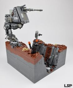 The trenches of Mimban Star Wars Boba Fett, Star Wars Clone Wars, Star Wars Art, Lego Star Wars, Star Trek, Lego Pictures, Star Wars Pictures, Star Wars Images, Star Wars Spaceships