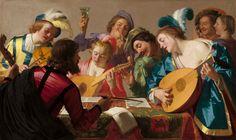Gerrit van Honthorst - The Concert, 1623. Gerrit van Dutch, 1590 - 1656. National Gallery, Washington, D.C.