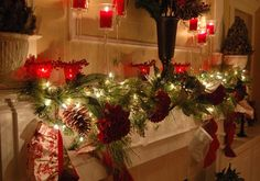 The perfect lighting can enhance any holiday decor, especially for mantelpiece accents.