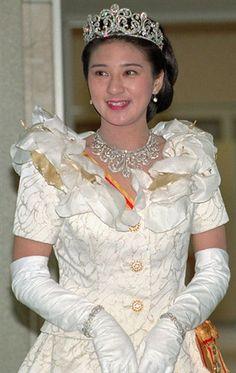 Princess Masako of Japan wearing The Japanese Crown Princess Scroll Tiara and matching necklace.  #RoyalSerendipity #Japan Royalty of Japan