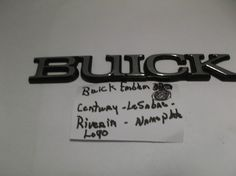 1992-1996 Buick Century Trunk EMBLEM Fender nameplate logo badge 6 1/4 inches  #oemBuick