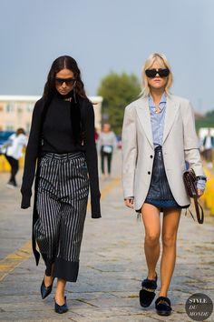 Erika Boldrin and Linda Tol by STYLEDUMONDE Street Style Fashion Photography
