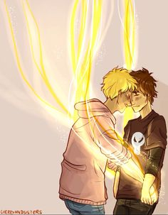 Heroes of Olympus - Will Solace x Nico di Angelo - Solangelo Apollo Percy Jackson, Percy Jackson Fandom, Percy Jackson Ships, Percy Jackson Characters, Percy Jackson Fan Art, Will Solace, Percabeth, Solangelo Fanart, Magnus Chase