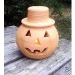 Terracotta Lanterns | eBay Image 1 Old Vintage Terracotta Clay Jack-O-Lantern w/Top-Hat