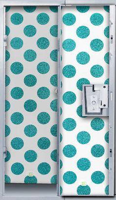 Blue Glitter Polka Dot Locker Wallpaper