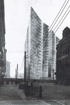 Ludwig Mies van der Rohe, Project for a skyscraper on Friedrichstrasse Berlin, Germany, 1921