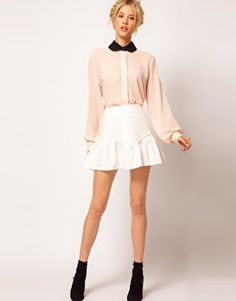 #asos                     #Skirt                    #ASOS #Mini #Skirt #With #Peplum #Frill #asos.com   ASOS Mini Skirt With Peplum Frill Hem at asos.com                             http://www.seapai.com/product.aspx?PID=1312237