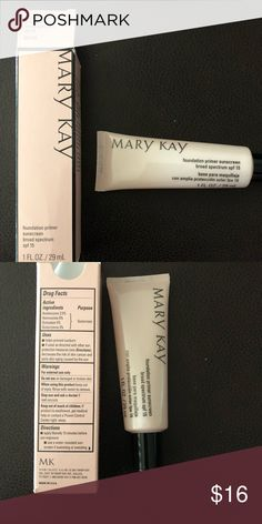 Mary Kay foundation primer Apply under your foundation to enhance wear and perfect skin. Primer sunscreen SPF 15 Mary Kay Makeup Face Primer