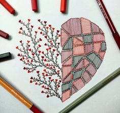 Let me know if you liked itThe Effective Pictures We Offer You About mandala art lesson A quality picture can Drawing Heart, Doodle Art Drawing, Mandala Drawing, Marker Kunst, Marker Art, Mandala Art Lesson, Mandala Artwork, Art Drawings Sketches Simple, Pencil Art Drawings