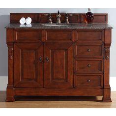 1120 48-Inch Brookfield Warm Cherry Single Drawer Vanity