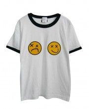 Chic Emoji Print T-shirt