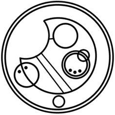 """Allons-y"" in Circular Gallifreyan"