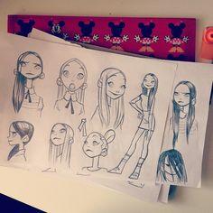 Чекуле  #sketching #girls by anna_cattish