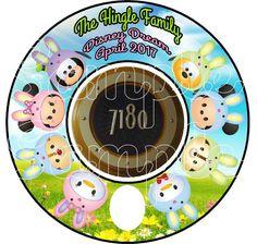 Tsum Tsum Easter Bunnies Mickey Disney Cruise by KimsCreations1127