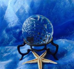 Antique Crystal ball  crystal ball wicca by TriquetraBoutique