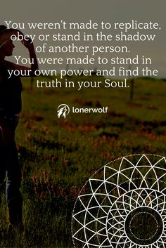 You were made to be YOU. Stand in your own personal power. Be your authentic self. ~ Empowerment quotes