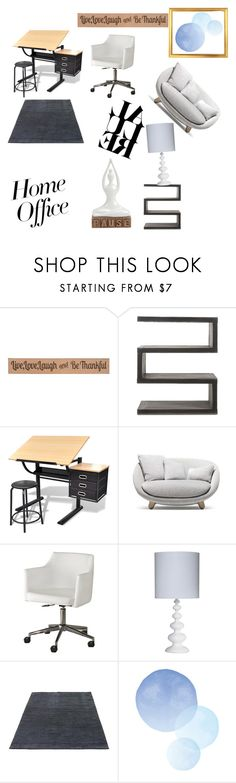 """""""work from home"""" by wintersummer1012 ❤ liked on Polyvore featuring interior, interiors, interior design, home, home decor, interior decorating, DutchCrafters, Andrew Martin, Moooi and Signature Design by Ashley"""