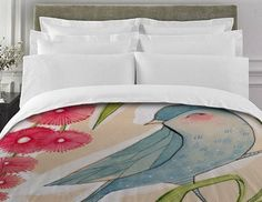 Bird Bedding !!! I love it #bird #nature #bedding