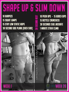 Shape up and Slim Down AT Home! With this quick workout you could be seeing results in less than 2 weeks! Try this!