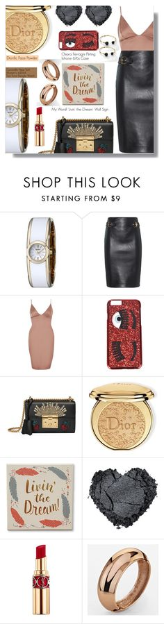"""""""Caravelle New York Watch Giveaway"""" by rivlyb ❤ liked on Polyvore featuring Moschino, River Island, Chiara Ferragni, Gucci, Christian Dior, My Word! and Yves Saint Laurent"""